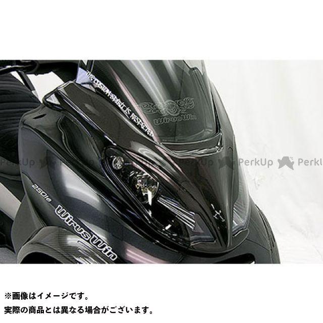 WirusWin MP3 250RL カウル・エアロ MP3 250RL用 カーボンフロントマスク ブラックカーボン ウイルズウィン