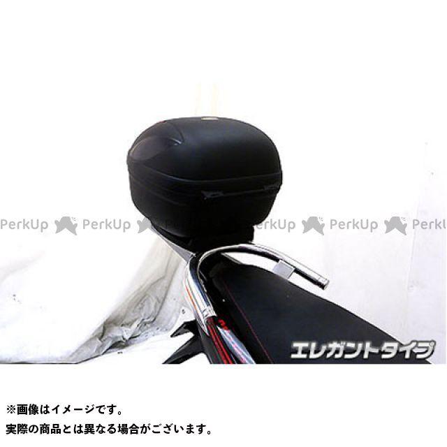 WirusWin ミオ タンデム用品 Mio125MX/GP(純正リアスポイラー未装着車)用 リアボックス付きタンデムバー タイプ:エレガントタイプ ウイルズウィン