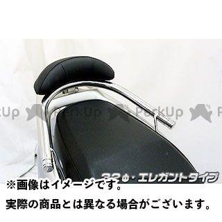 WirusWin リード タンデム用品 リード110用バックレスト付き 32φタンデムバー タイプ:エレガントタイプ バックレストサイズ:ラージ ウイルズウィン