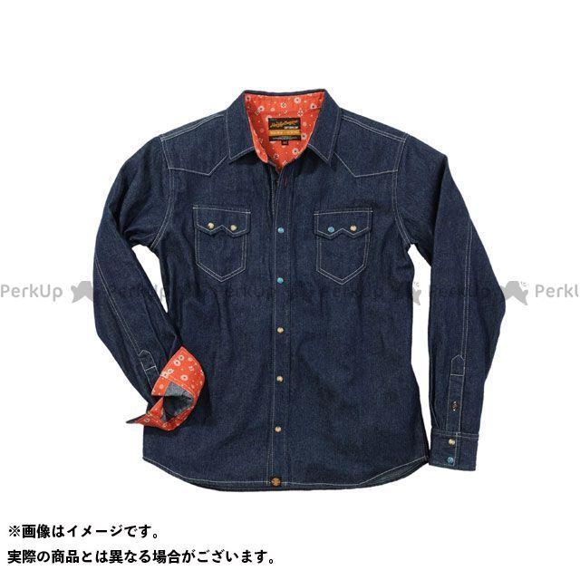 送料無料 ヘンリービギンズ HenlyBegins カジュアルウェア NHB1502 デニムシャツ ブルー L