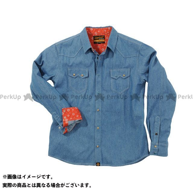 HenlyBegins カジュアルウェア NHB1502 デニムシャツ カラー:ライトブルー サイズ:M ヘンリービギンズ