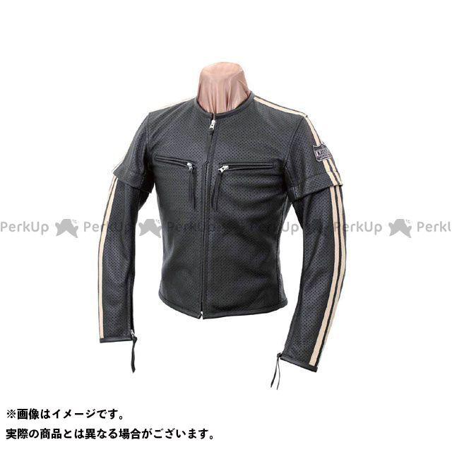 カドヤ ジャケット K'S LEATHER No.1154 SELECT SLEEVER-PL レザージャケット カラー:ブラック×アイボリー サイズ:3L KADOYA