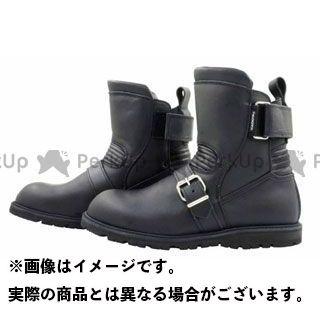 カドヤ ライディングブーツ K'S LEATHER No.4313 BLACK ANKLE(ブラック) サイズ:22.5cm KADOYA