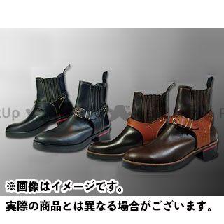 カドヤ ライディングブーツ Leather Royal Kadoya No.4321 RIDE CHELSEA ブラック×ブラック 25.0cm KADOYA