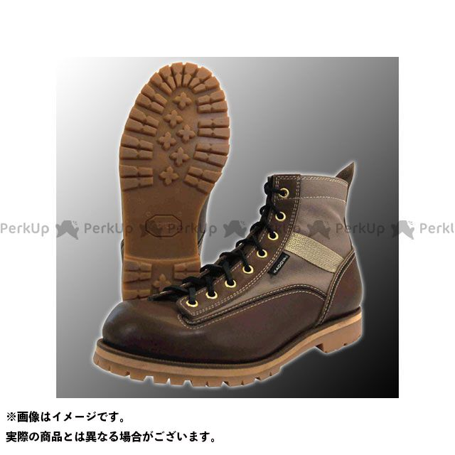 カドヤ ライディングブーツ Leather Royal Kadoya No.4326 LOGGER LIGHT カラー:ブラウン×ベージュ サイズ:25.0cm KADOYA