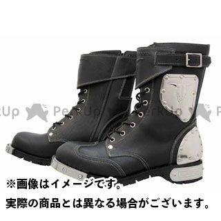 カドヤ ライディングブーツ SHINYA REPLICA No.4512 HAMMER BOOTS SHORT カラー:ブラック×シルバー サイズ:26.5cm KADOYA