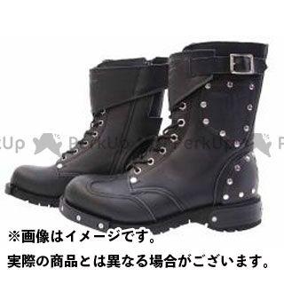 カドヤ ライディングブーツ SHINYA REPLICA No.4512 HAMMER BOOTS SHORT カラー:ブラック×ブラック サイズ:24.5cm KADOYA
