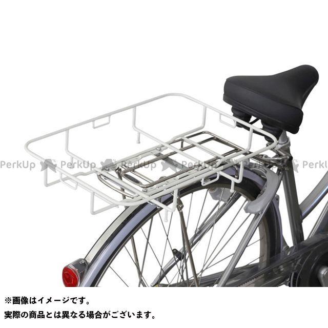 昭和インダストリーズ 自転車 至上 SHOWA 中古 INDUSTRIES アクセサリー 自転車用品 フィックスキャッチ カゴ リアキャリアに装着するだけで積載能力アップ ホワイト 無料雑誌付き