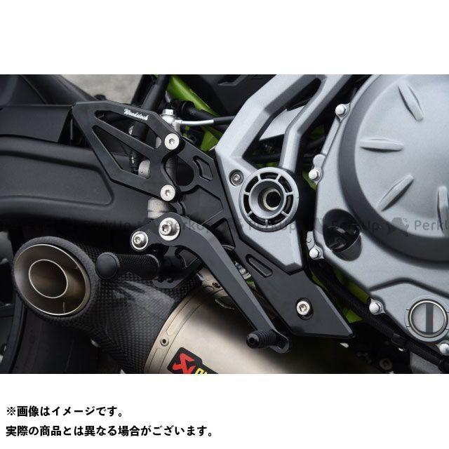 【無料雑誌付き】WOODSTOCK ニンジャ650 Z650 バックステップ関連パーツ バックステップキット カラー:オールブラック ウッドストック