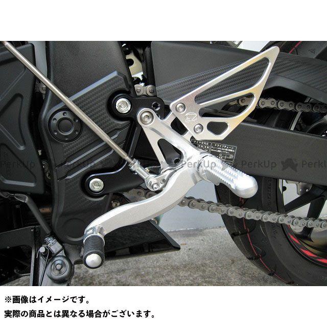 【無料雑誌付き】ビートジャパン CBR400R バックステップ関連パーツ ハイパーバンク 固定式(シルバー) BEET