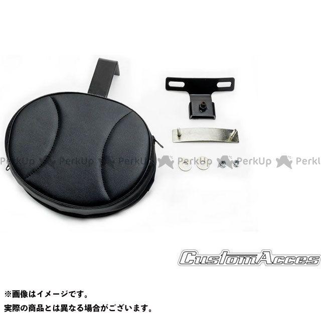 カスタムアクセス CustomAcces シーシーバー 無料サンプルOK 外装 無料雑誌付き Solo RQP003N Sissybar Black Softail Model 35%OFF