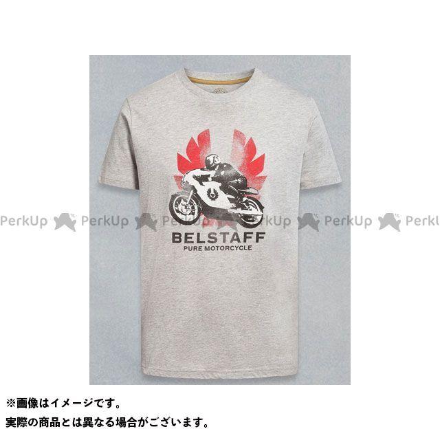ベルスタッフ Belstaff カジュアルウェア バイクウェア 倉 無料雑誌付き 新作通販 サイズ:S Tシャツ ライトグレーメランジ メンズ MCWILLIAMS