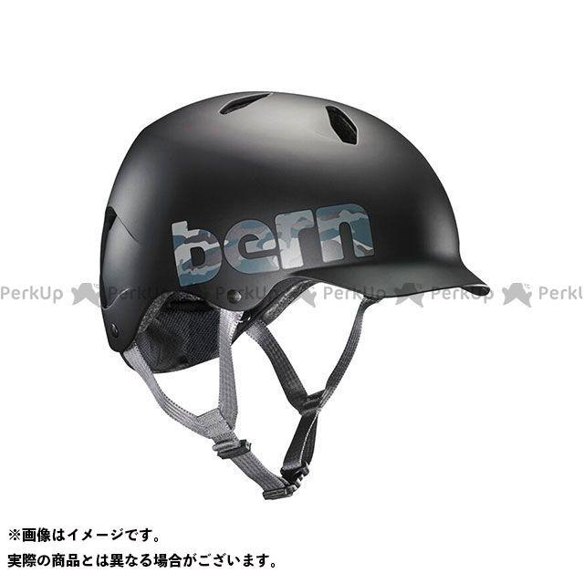 バーン 自転車 bern ヘルメット 自転車用品 無料雑誌付き 児童用ヘルメット BANDITO 小学生対象 M Matte Logo 35%OFF バンディート Camo サイズ:S セットアップ Black