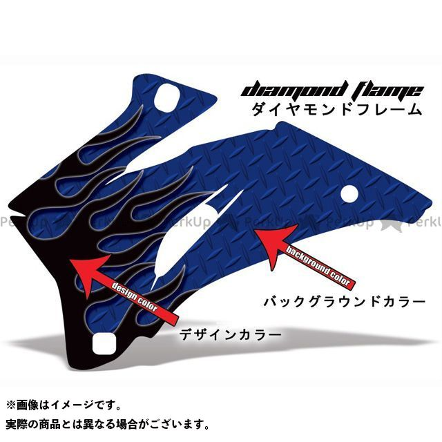 AMR Racing YZF-R1 ドレスアップ・カバー 専用グラフィック コンプリートキット デザイン:ダイヤモンドフレーム デザインカラー:ブルー バックグラウンドカラー:ブラック AMR