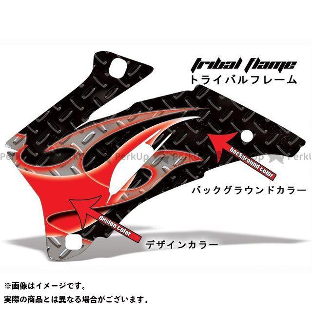 AMR Racing ニンジャZX-10 ドレスアップ・カバー 専用グラフィック コンプリートキット デザイン:トライバルフレーム デザインカラー:グレー バックグラウンドカラー:レッド AMR