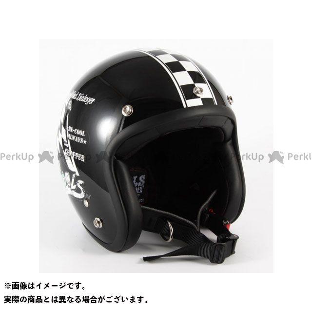 72ジャムジェット ジェットヘルメット COOLS WIND DIALOGER カラー:ブラック サイズ:XL/60-62cm未満 72Jamjet