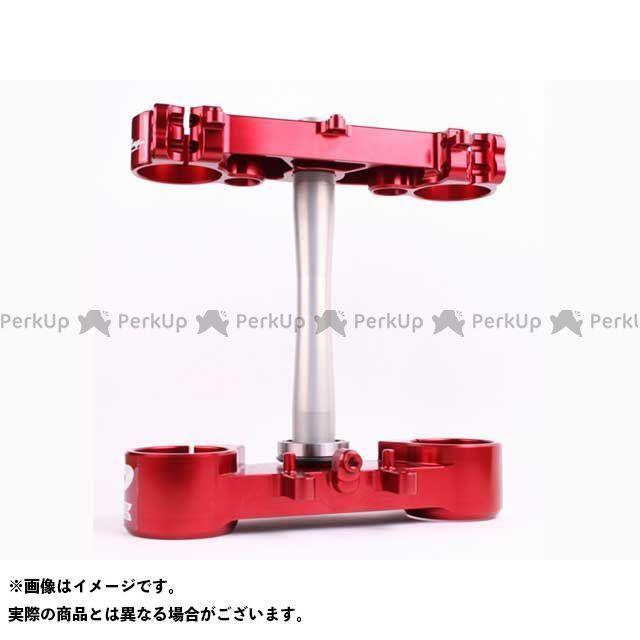 Ride Engineering CRF250R CRF450R ハンドル周辺パーツ トリプルクランプキット CRF450R(09-12) CRF250R(10-13) 22mm オフセット カラー:レッド ライドエンジニアリング