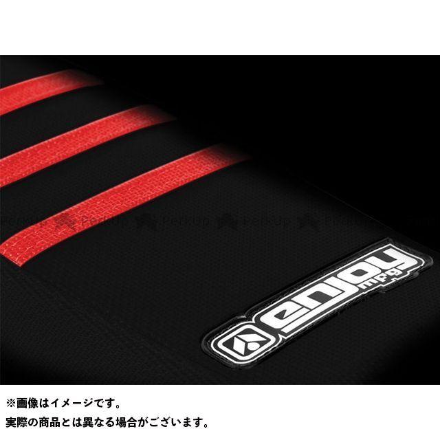 MOTO禅 CR85R シート関連パーツ シートカバー Honda サイド・黒/トップ・凸凹赤 エンジョイMFG