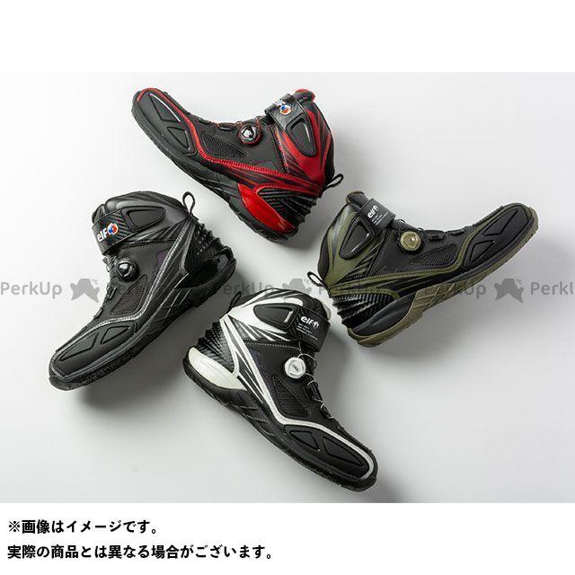 エルフシューズ 定番から日本未入荷 elf shoes ライディングシューズ バイクシューズ 買取 ホワイト S17 ブーツ ELS17 サイズ:26.5cm