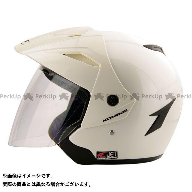 送料無料 コミネ KOMINE ジェットヘルメット HK-165 エーラヘルメット パールホワイト M(頭周57-58cm)