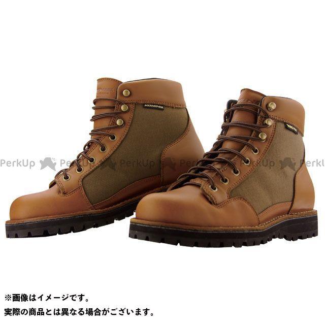 KOMINE ライディングブーツ BK-065 GORE-TEX ショートブーツ カラー:ブラウン サイズ:26.0cm コミネ