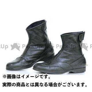 KOMINE ライディングブーツ BK-066 エアスルーショートブーツ(ブラック) 24.5cm コミネ