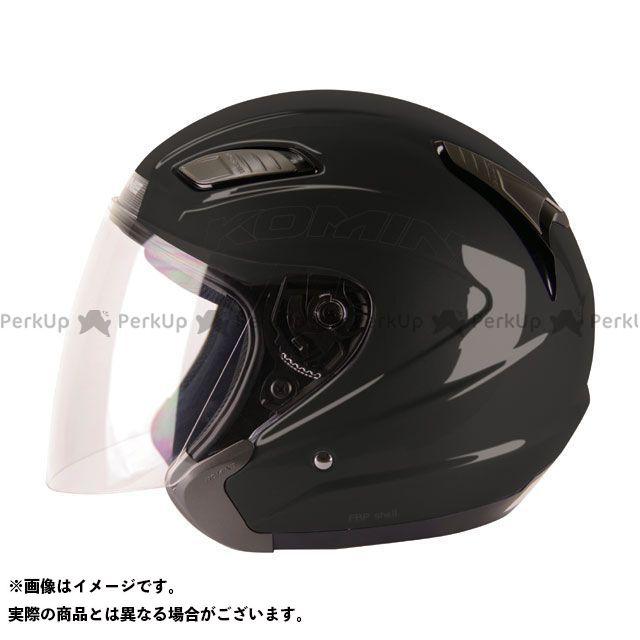 送料無料 コミネ KOMINE ジェットヘルメット HK-168 プルート ブラック L
