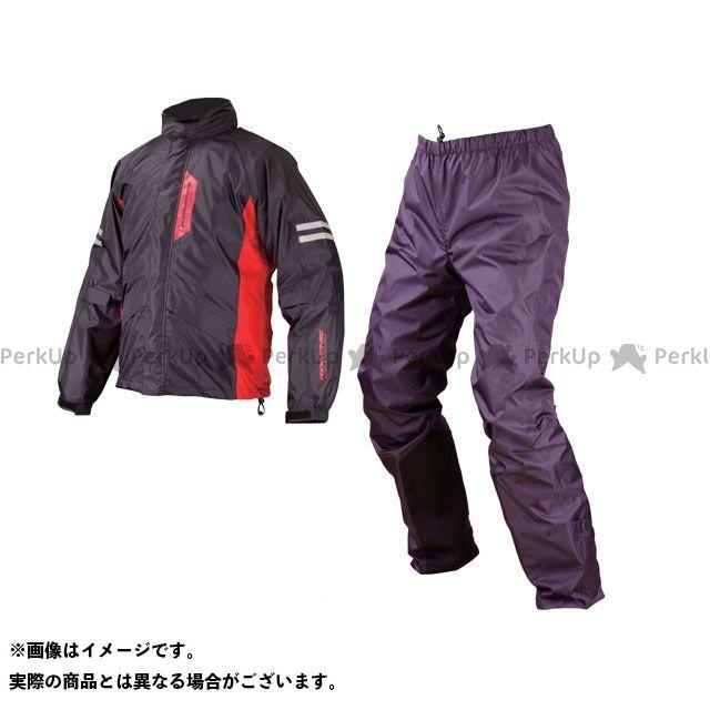 【無料雑誌付き】KOMINE レインウェア RK-539 ブレイスターレインウェア フィアート カラー:ブラック サイズ:2XL コミネ