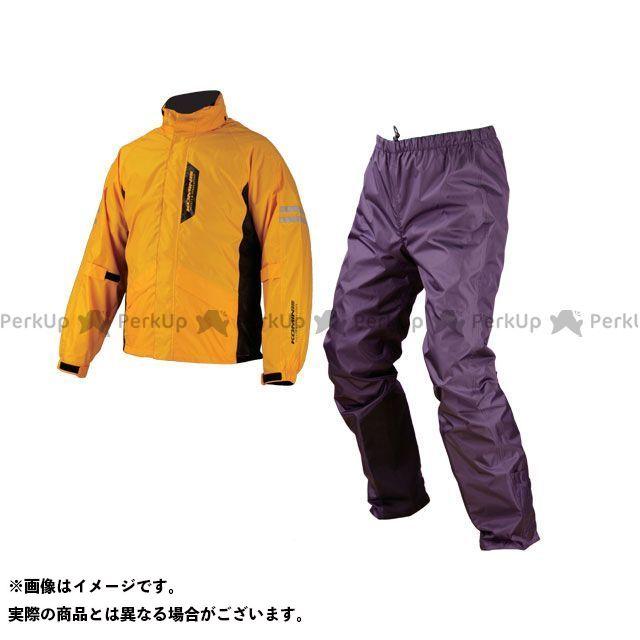 【無料雑誌付き】KOMINE レインウェア RK-539 ブレイスターレインウェア フィアート カラー:イエロー サイズ:XL コミネ