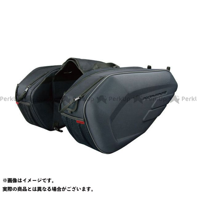 KOMINE ツーリング用バッグ SA-213 モールデッドサドルバッグ(ブラック) コミネ