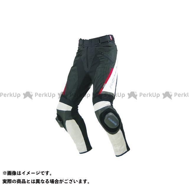 KOMINE パンツ PK-717 スポーツライディングレザーメッシュパンツ カラー:アイボリー/ブラック サイズ:L コミネ