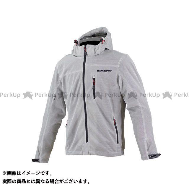KOMINE ジャケット JK-087 プロテクトライディングメッシュパーカ カラー:シルバー サイズ:XL コミネ