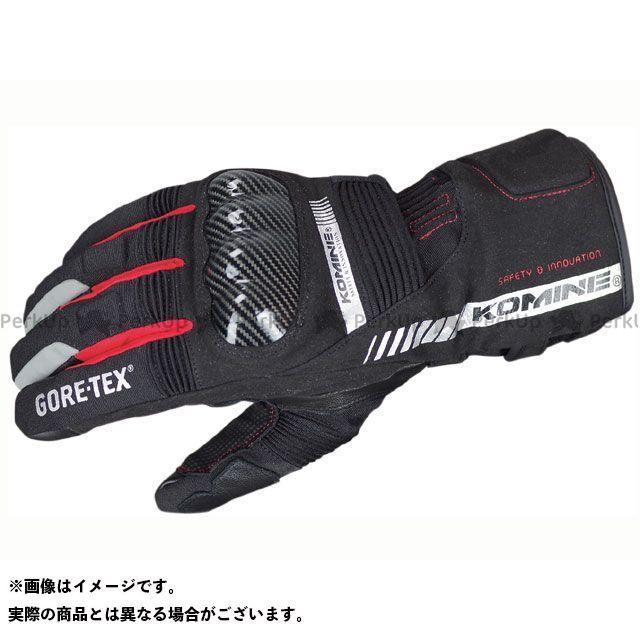 KOMINE ウインターグローブ GK-806 GTXプロテクトウインターグローブ ガイウス カラー:ブラック/レッド サイズ:M コミネ