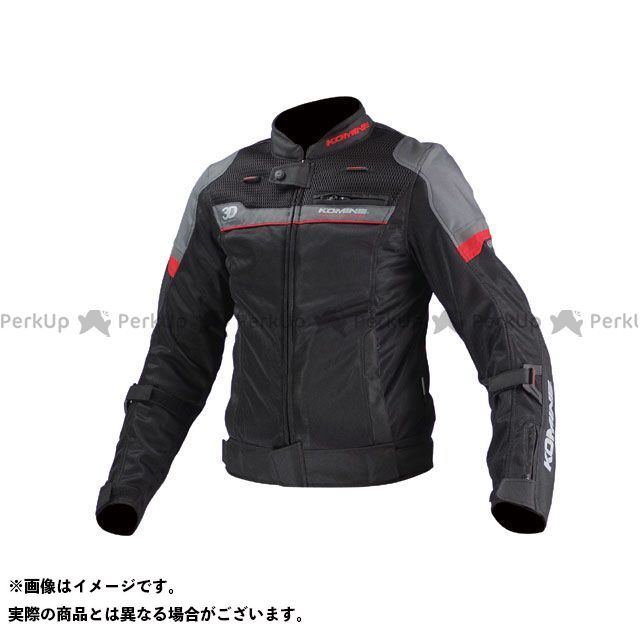 KOMINE ジャケット JK-093 エアストリームメッシュジャケット-コルドバ カラー:ブラック/レッド サイズ:WL コミネ