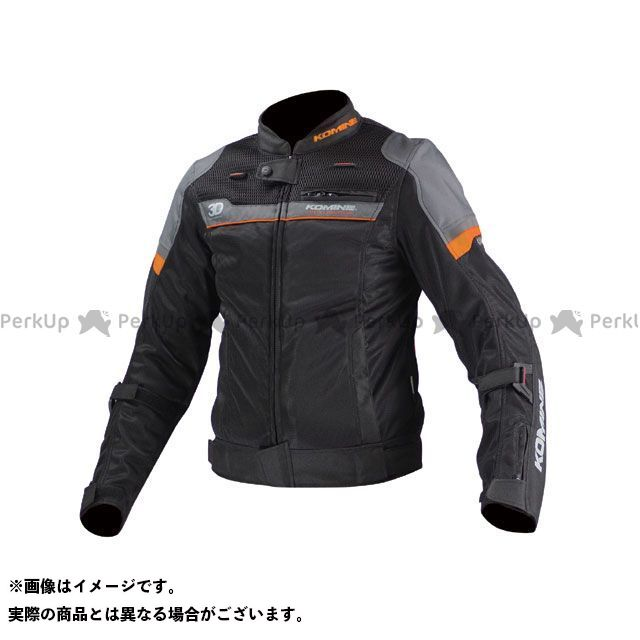 KOMINE ジャケット JK-093 エアストリームメッシュジャケット-コルドバ カラー:ブラック/オレンジ サイズ:WM コミネ