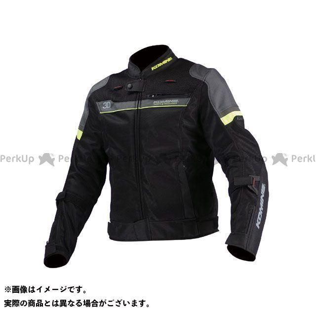 KOMINE ジャケット JK-093 エアストリームメッシュジャケット-コルドバ カラー:ブラック/ライムグリーン サイズ:L コミネ