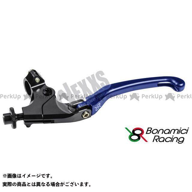 ボナミーチレーシング Bonamici Racing レバー ハンドル 汎用クラッチレバーキット 汎用 ブルー 新作販売 商店 ハンドル径22.2用クランプ付 34mm