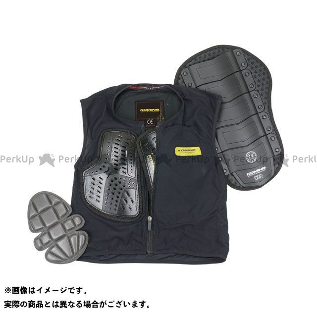 コミネ KOMINE ジャケット 人気ブランド多数対象 バイクウェア 無料雑誌付き ブラック SK-694 ボディプロテクションライナーベスト サイズ:4XL CE セール特価品