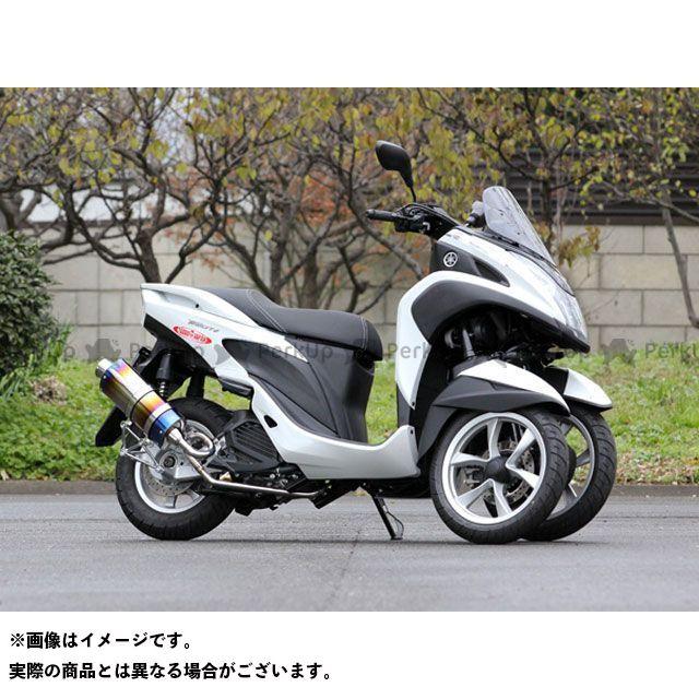 スペシャルパーツタダオ トリシティ125 マフラー本体 PURE SPORT S SUS oval チタンブルー SP忠男