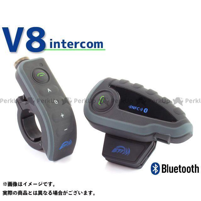 RISE CORPORATION 電子機器類 インカム 最大1200m 5人同時通話可能 ハンドル用リモコン付属 Bluetooth対応【V8】日本語説明書付(バイク ツーリング等に) 仕様:1台 ライズコーポレーション