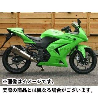 NOJIMA ニンジャ250R マフラー本体 NEW LOCK-ON ステン 2-1 チタン ノジマ