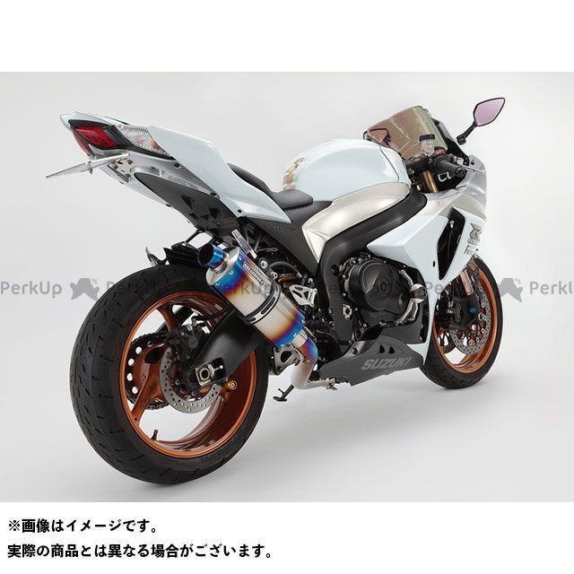 【エントリーで更にP5倍】BMS RACING FACTORY GSX-R1000 マフラー本体 シェイプスクエア スリップオン サイレンサー:ヒートチタン BMS