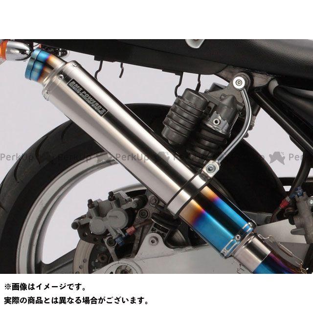 BMS RACING FACTORY ゼファー1100 マフラー本体 R-EVO・ロング フルエキ サイレンサー:ヒートチタン BMS
