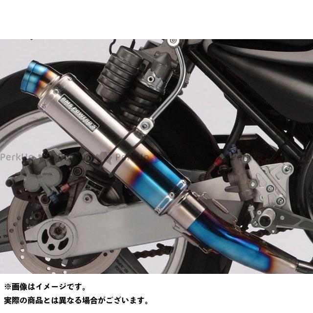 BMS RACING FACTORY ゼファー1100 マフラー本体 R-EVO・ショート フルエキ サイレンサー:ヒートチタン BMS