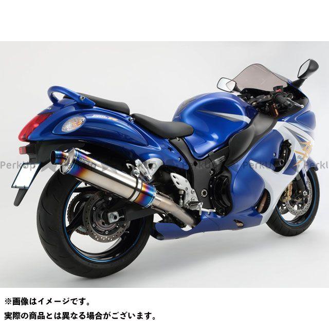 BMS RACING FACTORY 隼 ハヤブサ マフラー本体 R-EVOフルエキ JMCA サイレンサー:ヒートチタン BMS