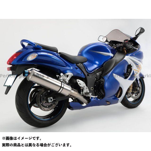 BMS RACING FACTORY 隼 ハヤブサ マフラー本体 R-EVOフルエキ JMCA サイレンサー:チタンソリッド BMS
