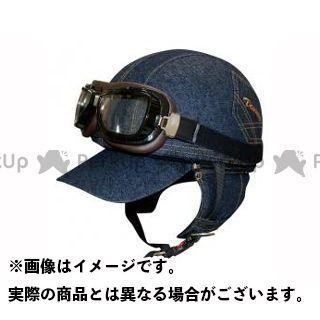 送料無料 ダムトラ ダムトラックス ハーフヘルメット BANDIT DENIM(デニム) FREE(57-60cm未満)