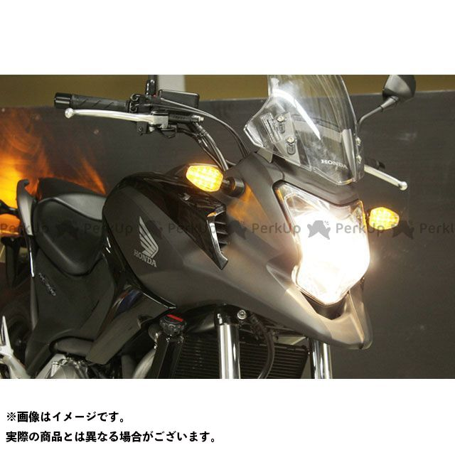 POSH Faith NC700S NC700X ウインカー関連パーツ ライトウェイトLEDウインカーキット ボディカラー:ブラック レンズカラー:オレンジ ポッシュフェイス