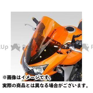 ISOTTA Z1000 スクリーン関連パーツ KAWASAKI Z1000 2003-2004年 ウインドシールド ダブル バブル ハイプロテクション オレンジ