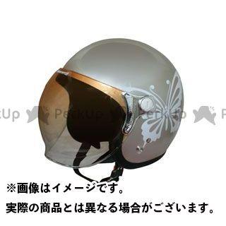 ダムトラックス レディース・キッズヘルメット newチアーバタフライ レディースフリー/57-58cm カラー:グレーベージュ ダムトラ